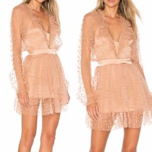 For love and lemons nude tule dress with stars